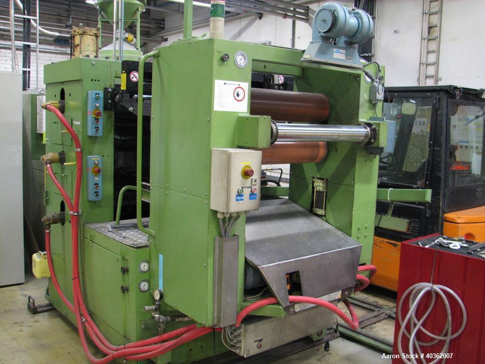 "Used-Reifenhauser Model EH 650-1-90 Sheet Extrusion Line. Maximum output 771 lbs (350 kilos/hour). Screw diameter 3.5"" (90mm..."