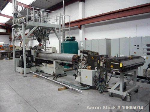 "Used-Reifenhauser 1800mm (70"") sheet extrusion line consisting of 120mm (4.7""), 33 L/D Reifenhauser extruder with 200 kW (26..."