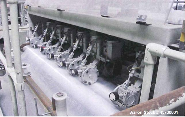 Used- Reifenhauser Multi-Layer Sheet Extrusion Line. Capacity 1653 lbs/hour (750 kg/h) PP film. Consisting of: (2) Extruders...