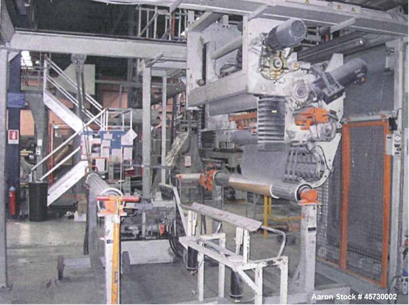 Used- Reifenhauser Multi-Layer Sheet Extrusion Line. Capacity 992 lbs/hour (450 kg/h) PP film. Comprised of: (1) Extruder 1....