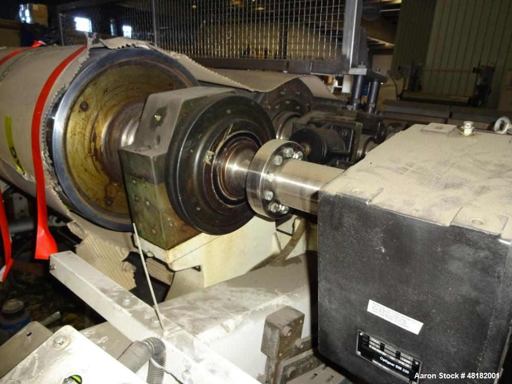 """Used- Reifenhauser 3-Roll Sheet Stack. 19.5"""" (500 mm) diameter x 62.4"""" (1600 mm) st. side rolls. Max roll speed 43.3 rpm ind..."""