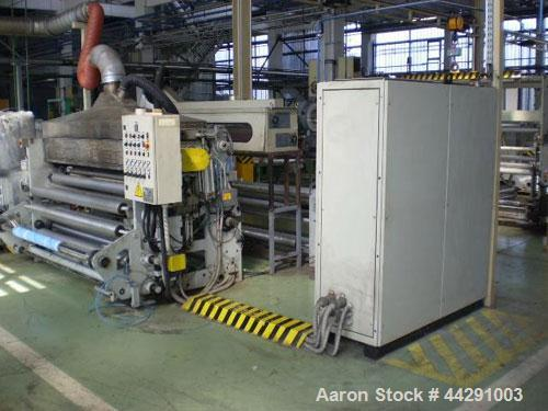 "Used-Soten Polyolefin Sheet Line comprised of:  (1) Perforating machine, 59 hp/44 kW, material thickness 0.5 - 1.2"" (12-30 m..."