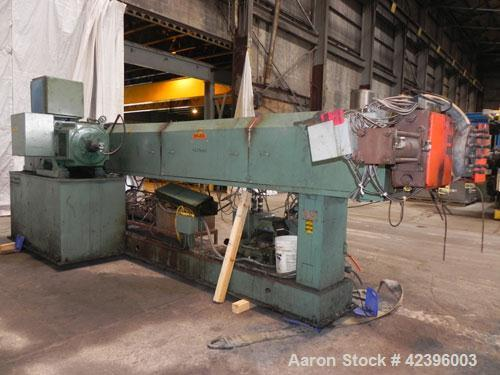 Used- Davis Standard Sterling Sheet Line Consisting Of: (1) Sterling 6'' diameter single screw extruder, approximate 32:1 L/...