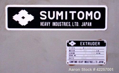 Used-Sumitomo Heavy Industries EC 075-T Tandem Extrusion Coating Line, laminator for producing laminated foil for tubes for ...