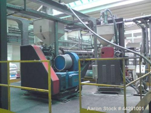 "Used-TAU Systems Sheet Extrusion Line, Type AX-1-CAST.  Comprised of (1) flat die type L3J, 72.8"" (1850 mm), output 926 lbs/..."