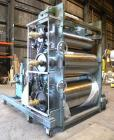 Used- Crown Sheet Take Off System Consisting Of: (1) Crown 3 roll vertical down sheet stack. (2) 32'' Diameter x 60'' wide c...