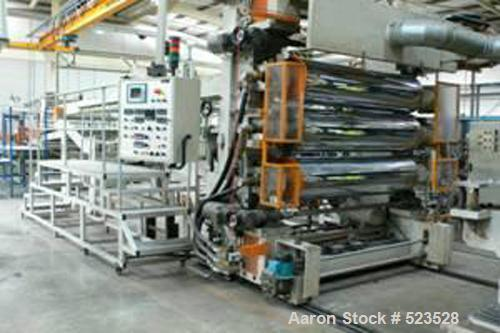 """USED: Union 58.5"""" (1500mm) sheet co-extrusion line consisting of: (1) 120mm Union single screw extruder, electrically heated..."""