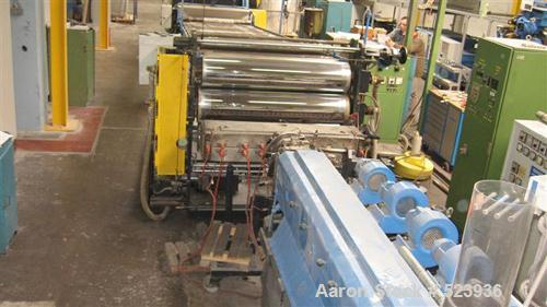 "USED: Union 47.2"" (1200mm) sheet extrusion line consisting of: (1) 3.54"" (90mm) Union single screw extruder, electrically he..."