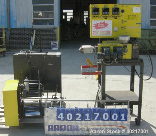 """Used- Wayne Machine and Die Company sheet line consisting of:  (1) 3/4"""" single screw extruder, approximate 20:1 L/D ratio, 3..."""