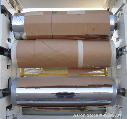 "(1) 3 roll sheet stack with (3) 12"" diameter x 41"" wide chrome plated rolls, and (2) 12"" diameter x 41"" wide pattern rolls,..."