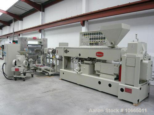 Used-1040mm (3.4') Welex coextrusion sheet line, with 115mm (4.5'') with 30:1 L/D single screw Welex extruder, model 450, 30...