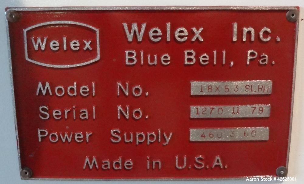 "Used- Welex 53"" Wide Sheet Line"