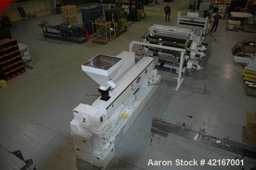 "Used- Welex ""J"" Style 78"" Wide Sheet Line, Consisting Of: (1) Welex 4.5"" extruder single screw extruder, 30:1 L/D ratio, sid..."