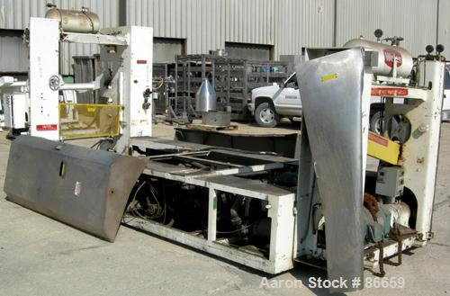"""USED- Welex Sheet Extrusion Downstream Stack. 3 rolls measure 18"""" diameter x 41"""" face width. Two chrome, one ceramic. Rolls ..."""