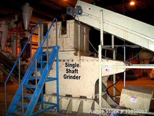 "Unused-Marathon Shredder, Model SS-52-100, Single Shaft Shredder. 51"" x 58"" throat size opening, hydraulic feed, 100 horsepo..."