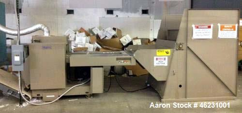 "Used- Allegheny Paper Shredder, Model 20-350C. 40 Hp, input speed 125 feet per min. 20"" Feed opening, 20"" cutting assembly. ..."