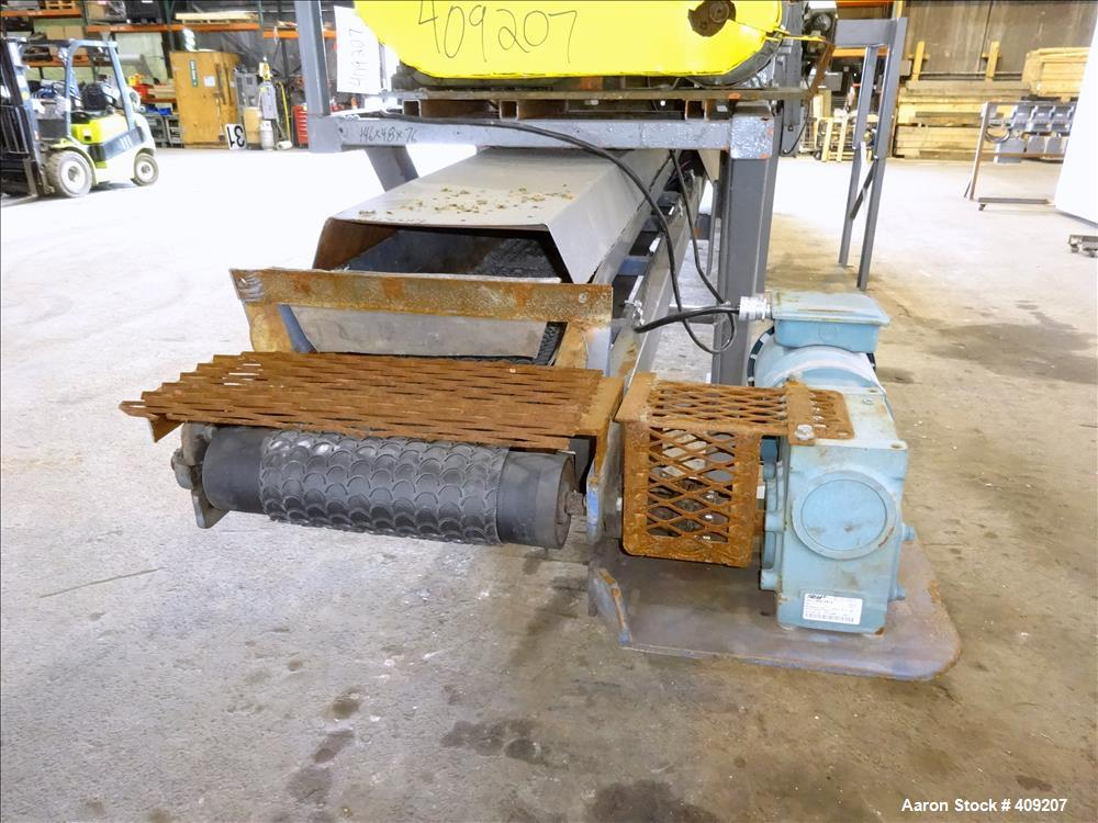 "Used- Dual Rotor Shredder, Carbon Steel. Approximate chamber 60"" x 18""."
