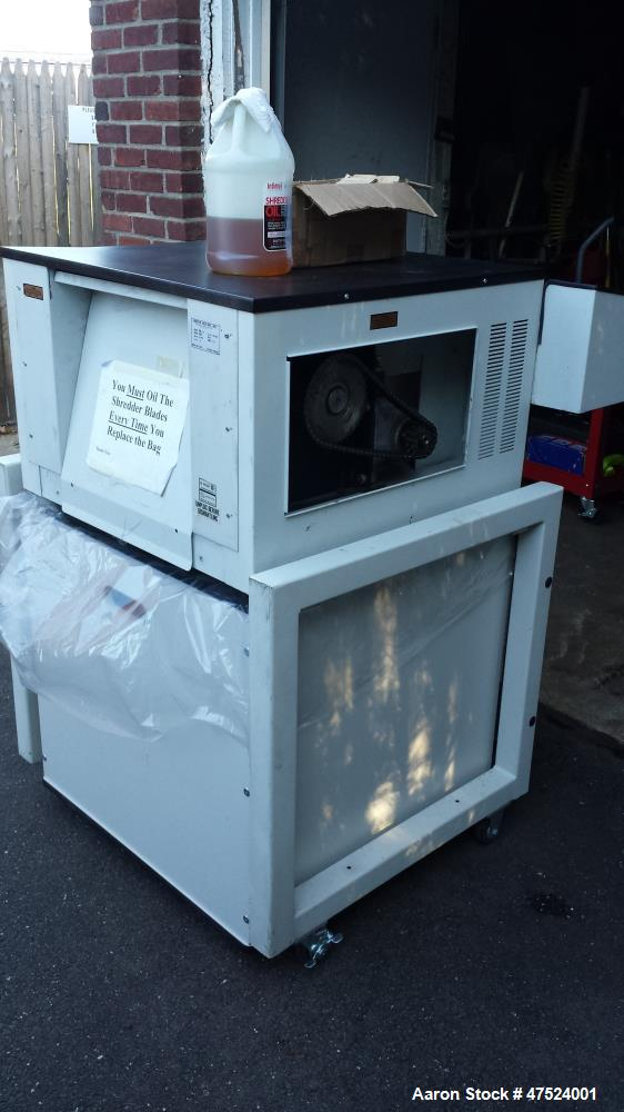 Used- Martin Yale Intimus Single Shaft Shredder, Model 490-CC. 208 Volts, 60 Hz, 3 Phase, 3 HP, 11.6 Amps.
