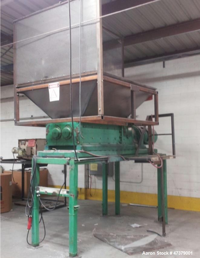 "Used- American Pulverizer Shredder, Model 51x25 TRS. 40 HP dual rotor, 51"" x 25"" cutting chamber, 3/4"" cutters. Automatic pa..."