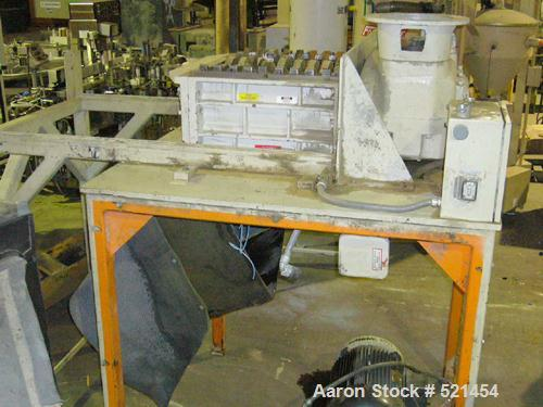 "USED: Ball & Jewel model SB-10/615A 25 hp dual rotor shredder having 19 single teeth rotors. Blades are 1-1/8"" wide. 19"" x 2..."