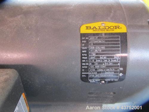 "Used- Bloapco 36"" Dual Shaft Paper Shredder, Model 3C-1536P"