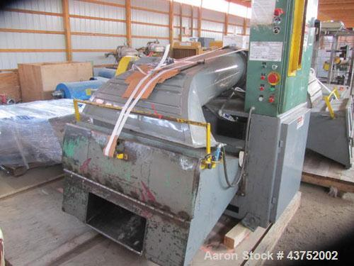 "Used- Bloapco 48"" Triple Shaft Paper Shredder, Model 3CAXS-3048P. 9 Blade rotor driven by a 30 HP motor. 24"" Feed, can be op..."