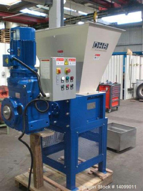 Used-DHB DH 2130 GL Slow Rotating Single Shaft Shredder for pre-shredding for e. g. ductile and rigid materials.  Feed openi...