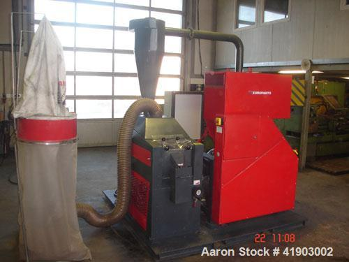 Used-Eureka 15 Cable Shredder. 30 hp/22 kW drive, throughput 330 lbs/hour (150 kg/h).