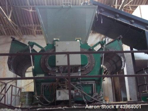 Used-Holzmag Twin Shaft Shredder, Model Powercut Duo 730 S