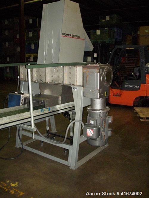 Used-Hosokawa Dual Rotary Pulverizer/Shredder (polymer system). Stainless steel, 25/15 hp motors, 230/460 208-230/460.
