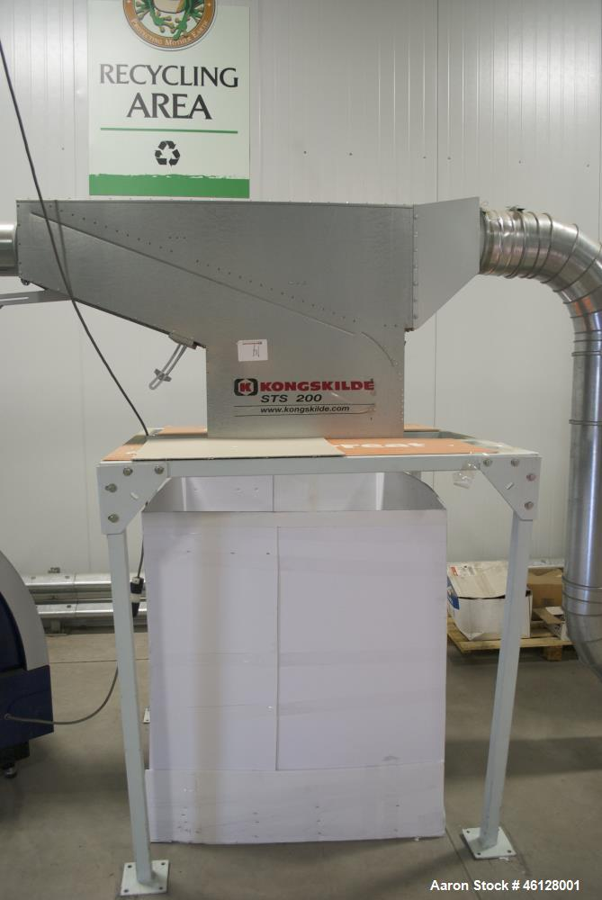 Used- Kongskilde Multidicer, Model KM18, Paperboard Skeleton Frame Shredder. Includes: Infeed conveyors and control panels. ...