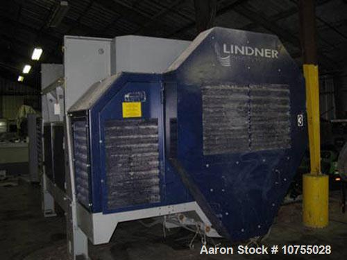 "Used-Lindner Model Jupiter 2200 Single Shaft Shredder. 157.5"" x 98.5"" feed opening, 84"" x 67"" shredding area, dual 150 hp ma..."