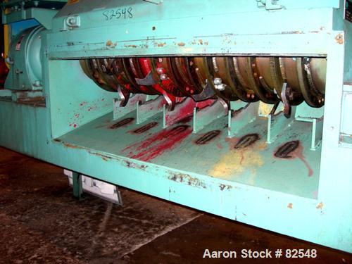 Used: Carbon Steel Maren pinch conveyor shredder, model 60-PC/SHR