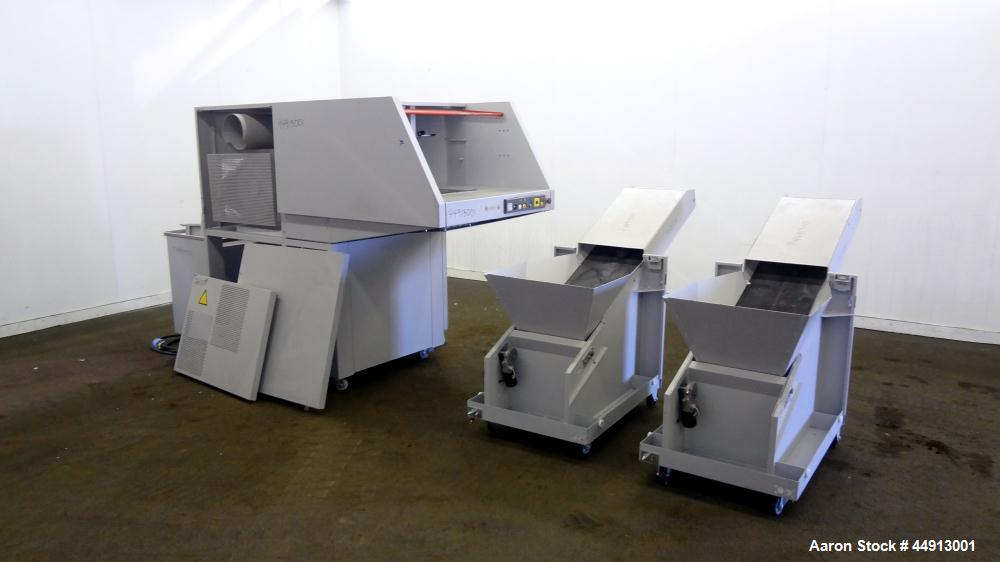 "Used- MBM Corporation Ideal DestroyIt Shredder, Model 5009-2.  20"" Feed opening.  Particle size 11/32"" x 1-1/2"" to 3"", sheet..."