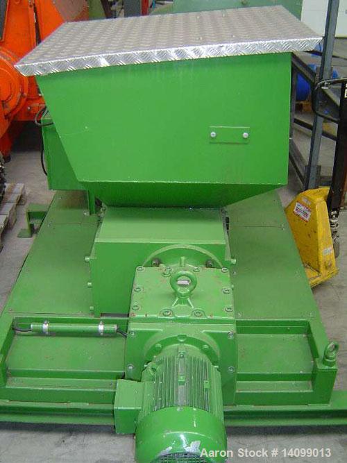 """Used-Mewa UC 35 Two Shaft Shredder for pre-shredding.  Motor 7.5 hp (5.5 kW).  Feed opening 13.7"""" x 19.6"""" (350 x 500 mm).  R..."""