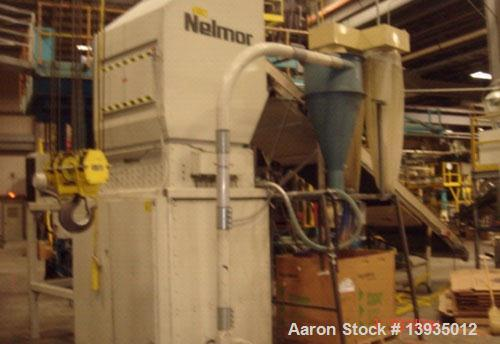 "Used-Nelmore Model 155240 Dual Stage Shredder/Granulator. Hopper opening 52"" x 60"", shredder feed throat opening 52"" x 40"", ..."