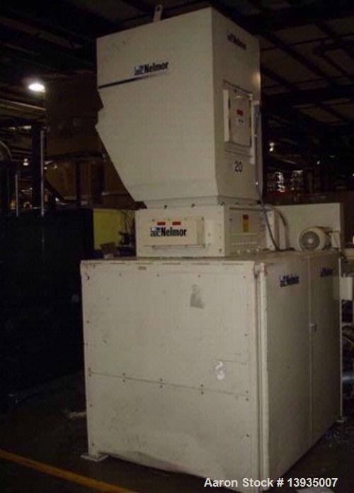 "Used-1997 Nelmor Shredder/Granulator Combo. Nelmor SH2525, 25"" x 25"" cutting chamber area, 20 hp, dual rotor with auto rever..."