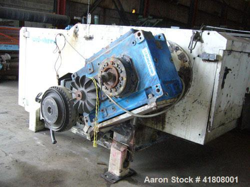 """Used- Uni-Shred Single Rotor Shredder, carbon steel. 63"""" x 67"""" feed. Hydraulic ram feeder. Shreddder driven by a 150 hp moto..."""
