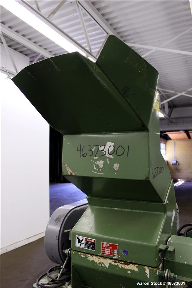 "Used- Prodeva Single Rotor Plastics Shredder, Model 315-S, Carbon Steel. Cutting chamber approximately 15"" long x 11"" wide. ..."