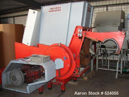 USED: Reinbold single roll shredder, type AZR K 1000 S. Hopper opening 1000 x 1200 mm, rotor diameter 368 mm, max 120 rpm, d...