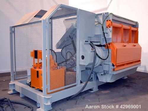 Used-Linder Micromat Single-Shaft Shredder, Model MS2000, Carbon Steel. Approximately 22'' Diameter (560mm) x 79.9'' long (2...