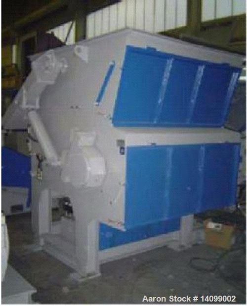 Used-Unused-S & P ES 1200 Single Shaft Shredder, 81 rotary knives, 2 stationary knives. 7.5 hp/5.6 kW hydraulic ram, rotor w...