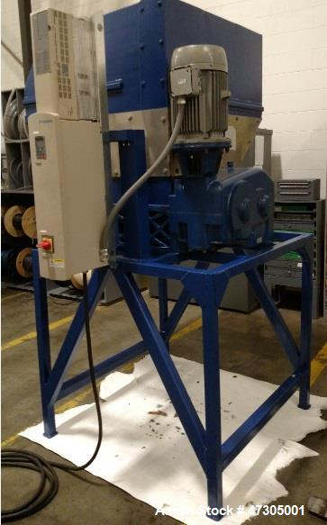 "Used- Sant' Andrea Dual Shaft Shredder, Model G10. Overall dimensions: 61""x 58""x 90"". Hopper 38""x 44""x 38"". 10 hp, 3 phase, ..."