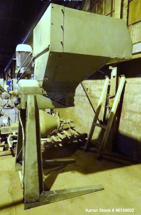 "Used- Sant Andrea Dual Shaft Shredder. Approximately 18"" wide x 19"" deep feed throat with feed hopper, 10 hp, 575 volt, 1130..."