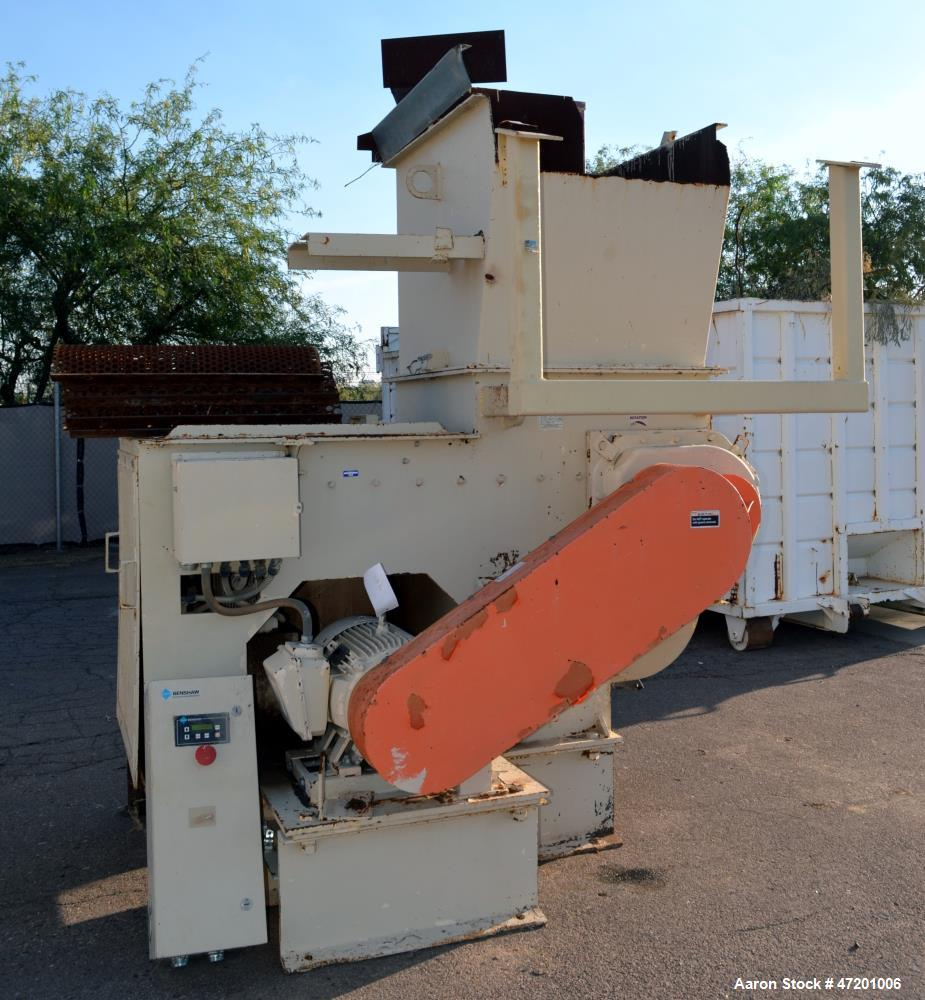 "Used- Schutte-Buffalo MP Series Slow Speed Ram Feed Grinder, Model MP-30, Carbon Steel. Approximate 15"" diameter x 36"" wide ..."