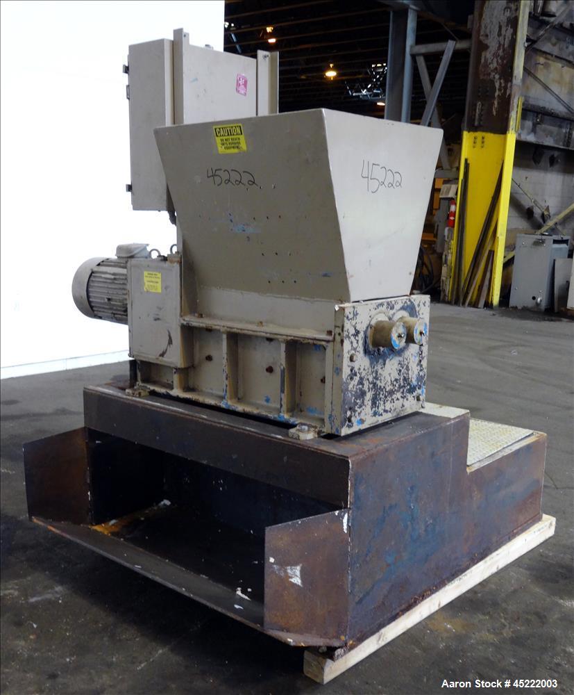 Used- Shred-Pax Dual Rotor Shredder, Model AZ-15.