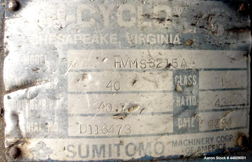 """Used- Shred-Pax Twin Shaft Shredder, Model AZ-80 EP, Carbon Steel. (2) Rows of intermeshing hook knives approximately 1-3/4""""..."""