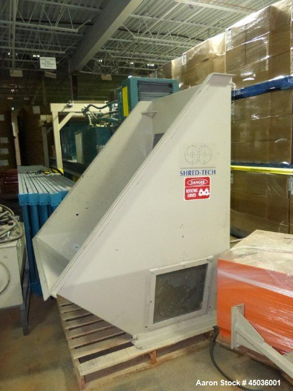 Used- Carbon Steel Shred-Tech Dual Shaft Shredder, Model ST-75ES