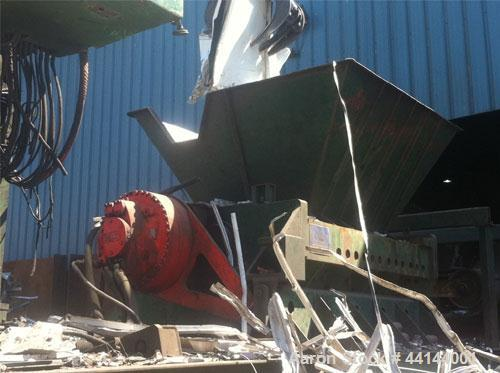 Used-Shred-Tech Low Speed Hi Torque ST500 Mobile Hydraulic Shredder.  Hydraulic elevating operator's cab with crane and grap...