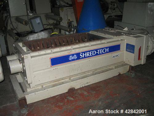 Used-Shred Tech Model ST75E Dual Shaft Shredder,Mfg 6/04, Dual Sumitomo 40HP, 208-230/460 Volt, 1170 RPM motors into Sumitom...